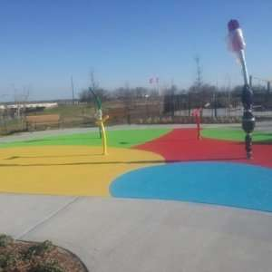 Commercial Splash Pad with Classic Texture
