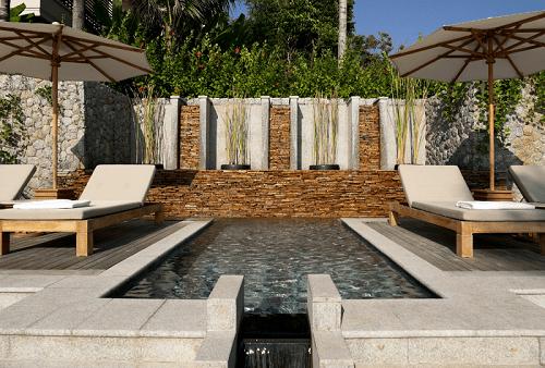 Luxury villa pool deck