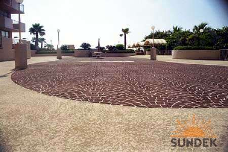 Stamped Overlay Commercial Driveway Beautification