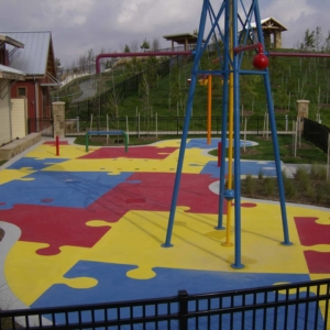 Spray Park Coatings in and Around Houston