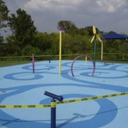 Water park and splash pad coating system by Sundek