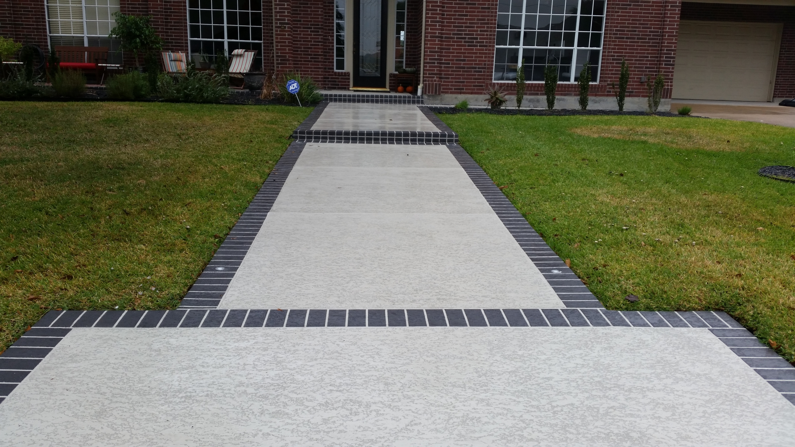 Residential Walkway with Classic Texture