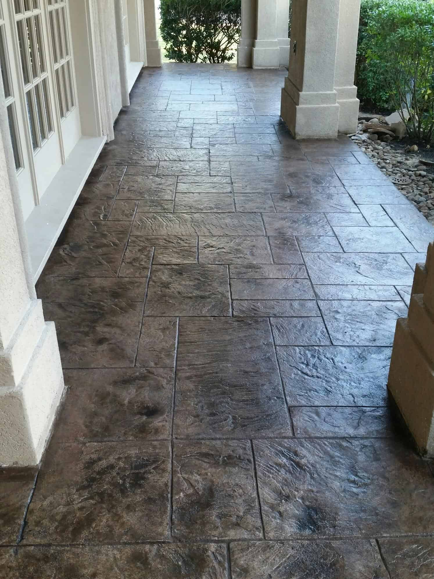 Exceptionnel Residential Patio With Stamped Overlay System