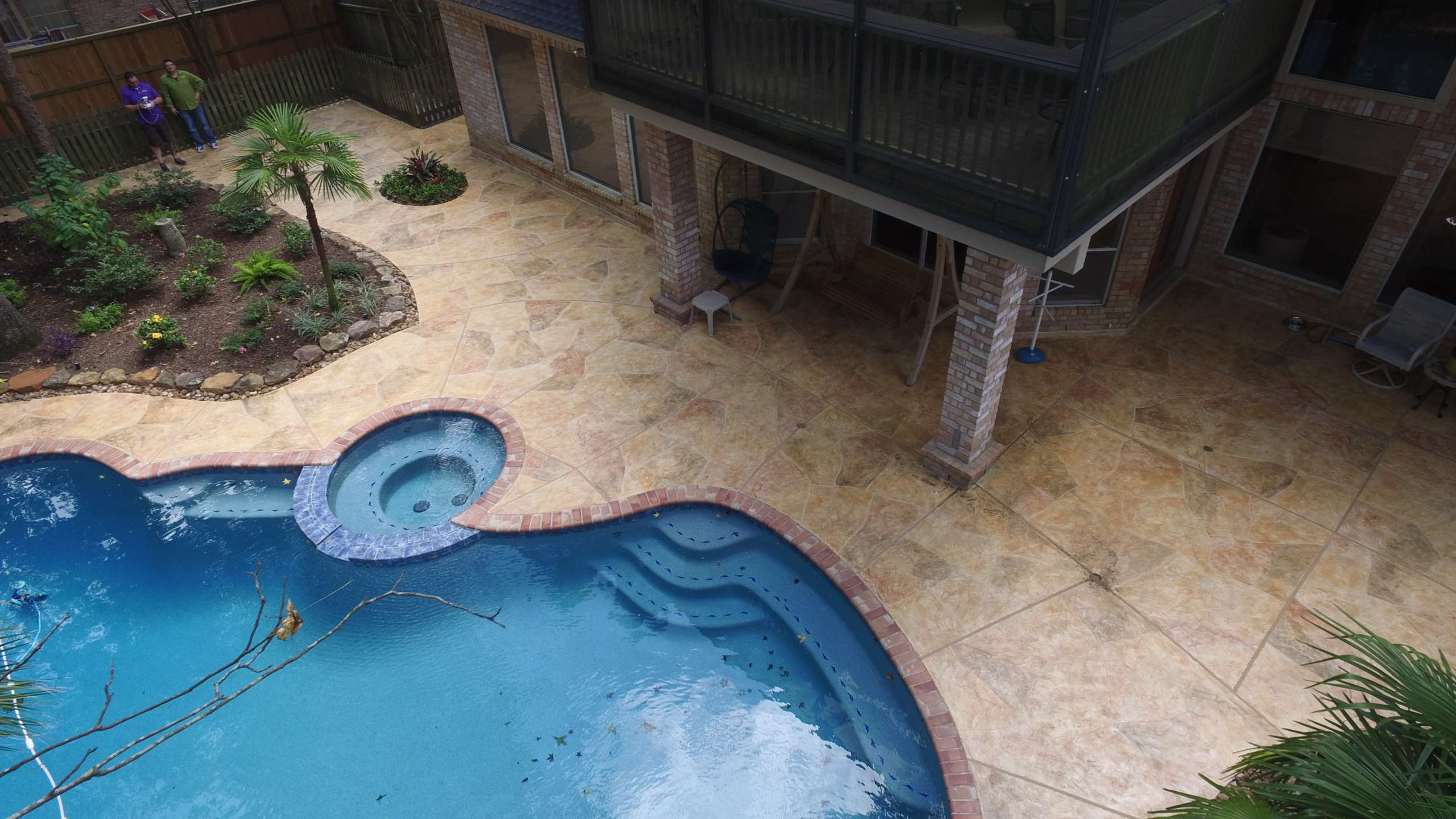 Residential Pool Deck with Limestone System