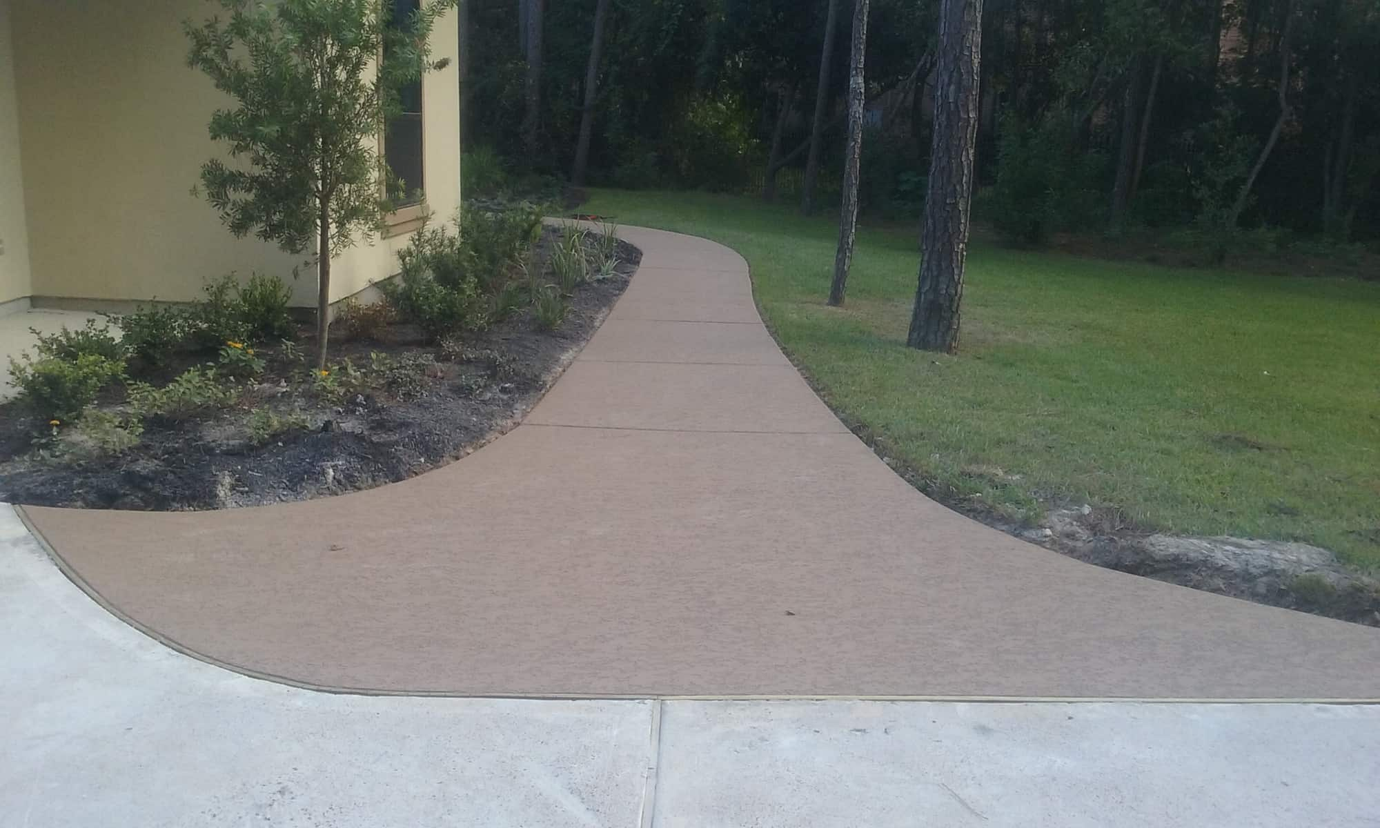 Classic Texture on Residential Walkway