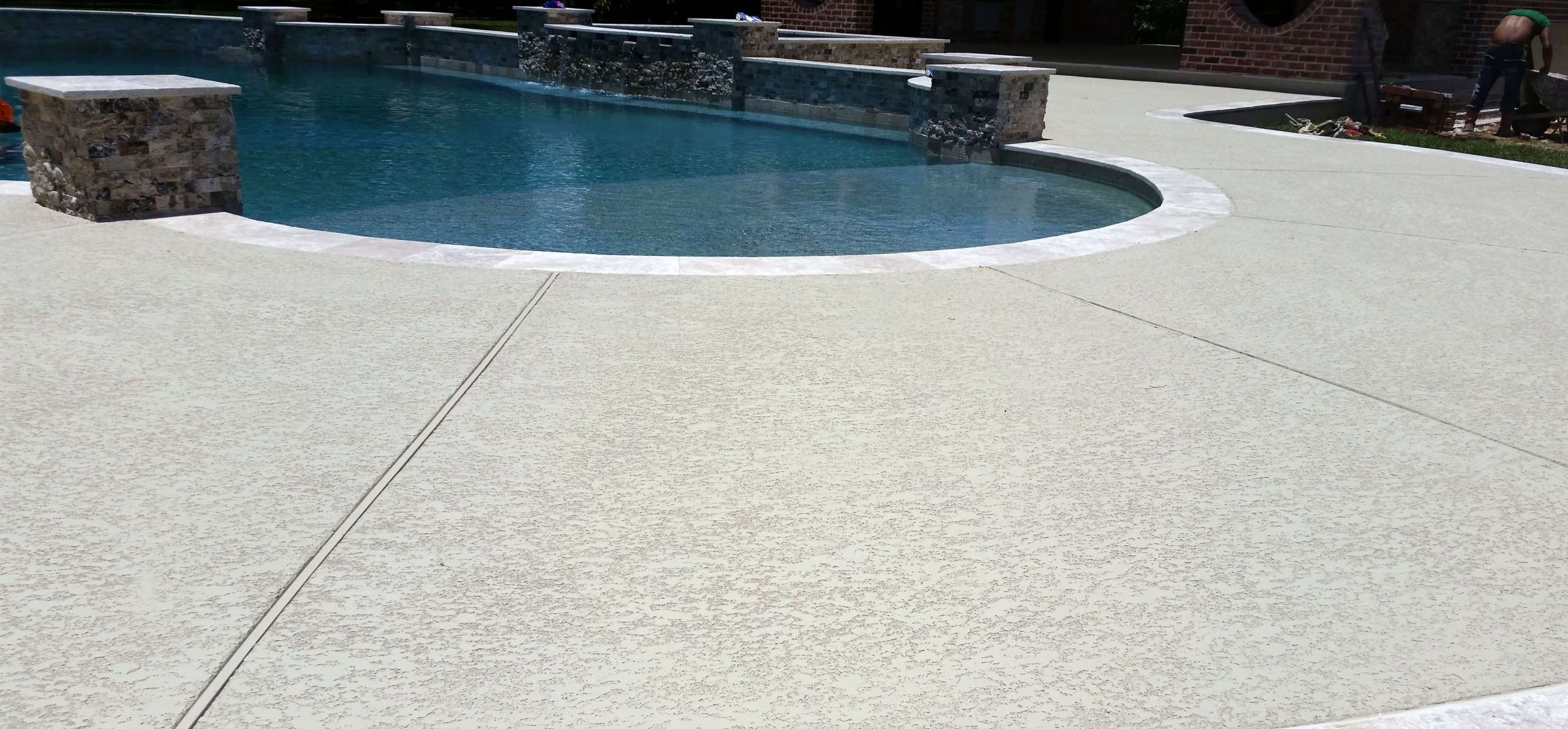 Commercial Pool Deck with Classic Texture