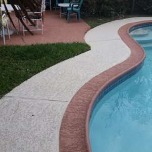 Residential Pool Deck with Classic Texture Surface