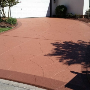 Residential Driveway with Classic Texture Surface
