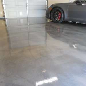 Residential Garage with Metallic Epoxy Coating
