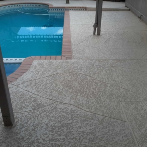 Residential Pool Deck with Classic Texture